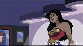 Superhero Hentai – Wonder Woman vs Captain America